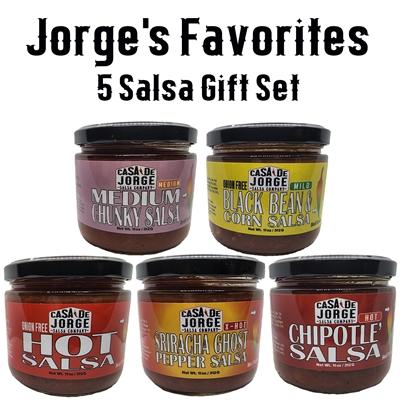 Jorge's Favorites 5 Salsa Gift Set